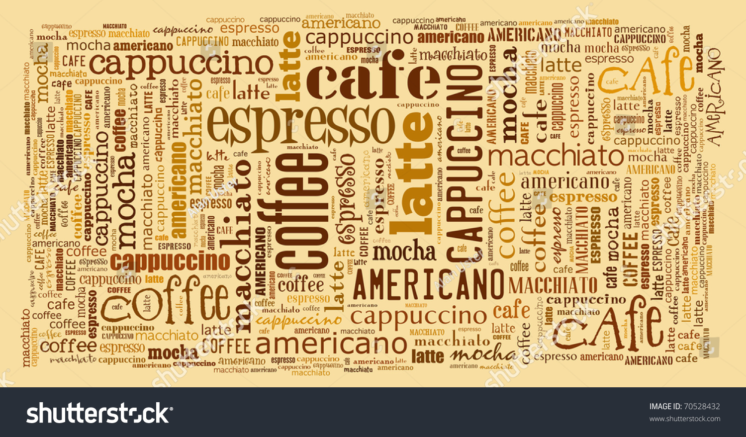 Wallpaper Decorate Cafe Coffee Shop Stock Illustration 70528432 ...