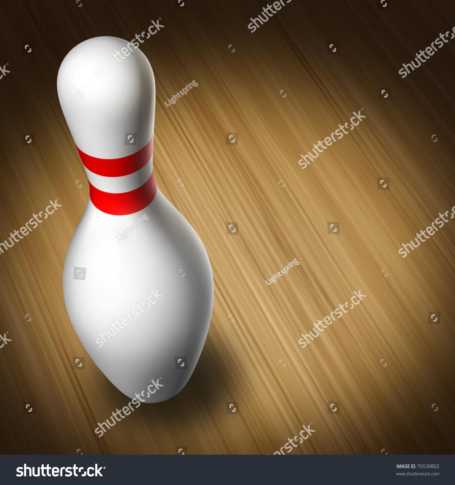 Bowling Pin Single Bowl Sport Wood Stock Illustration 70530802 ...