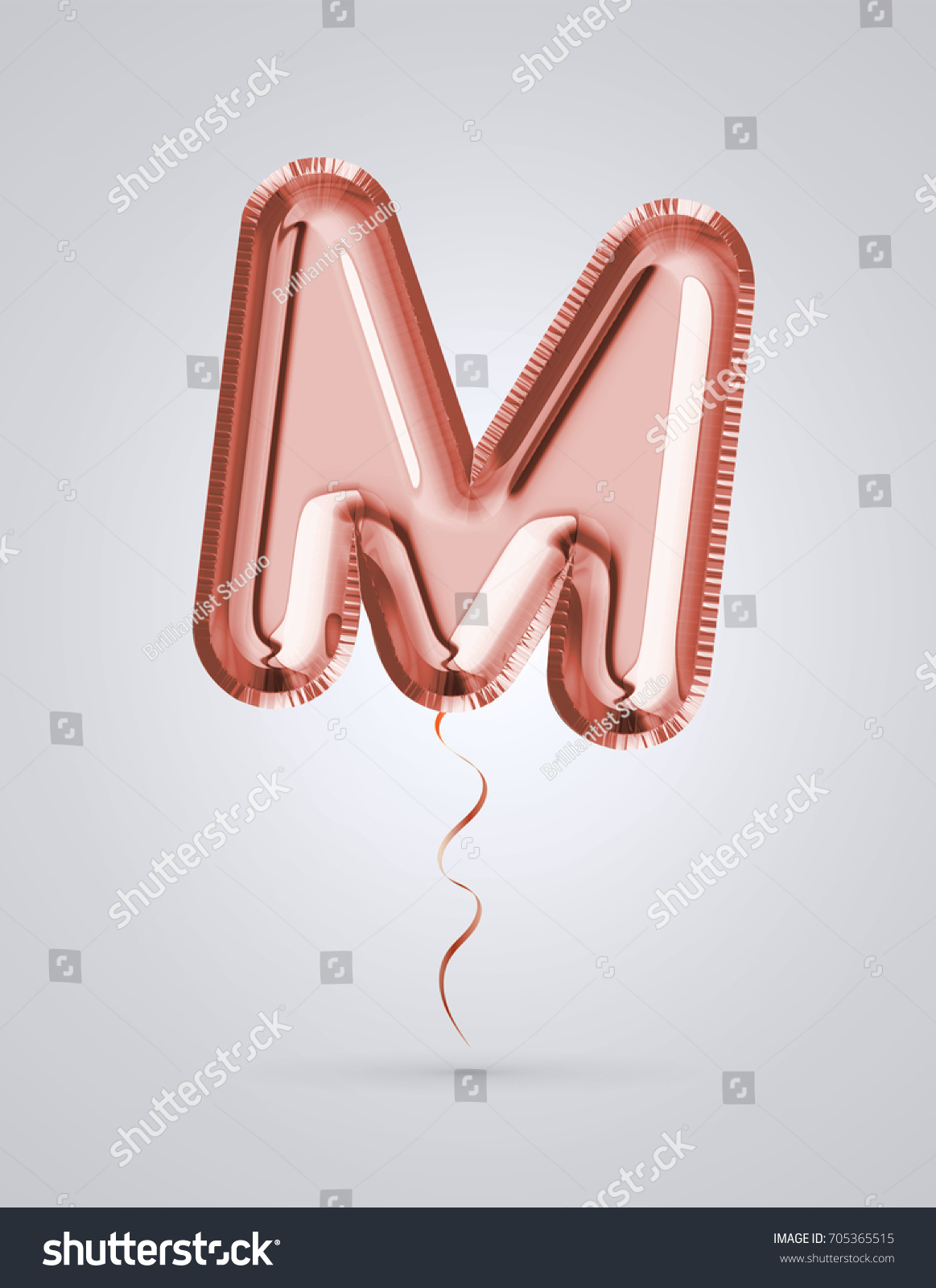 Brilliant Balloon Font Letter M Made Stock Illustration 705365515 ...
