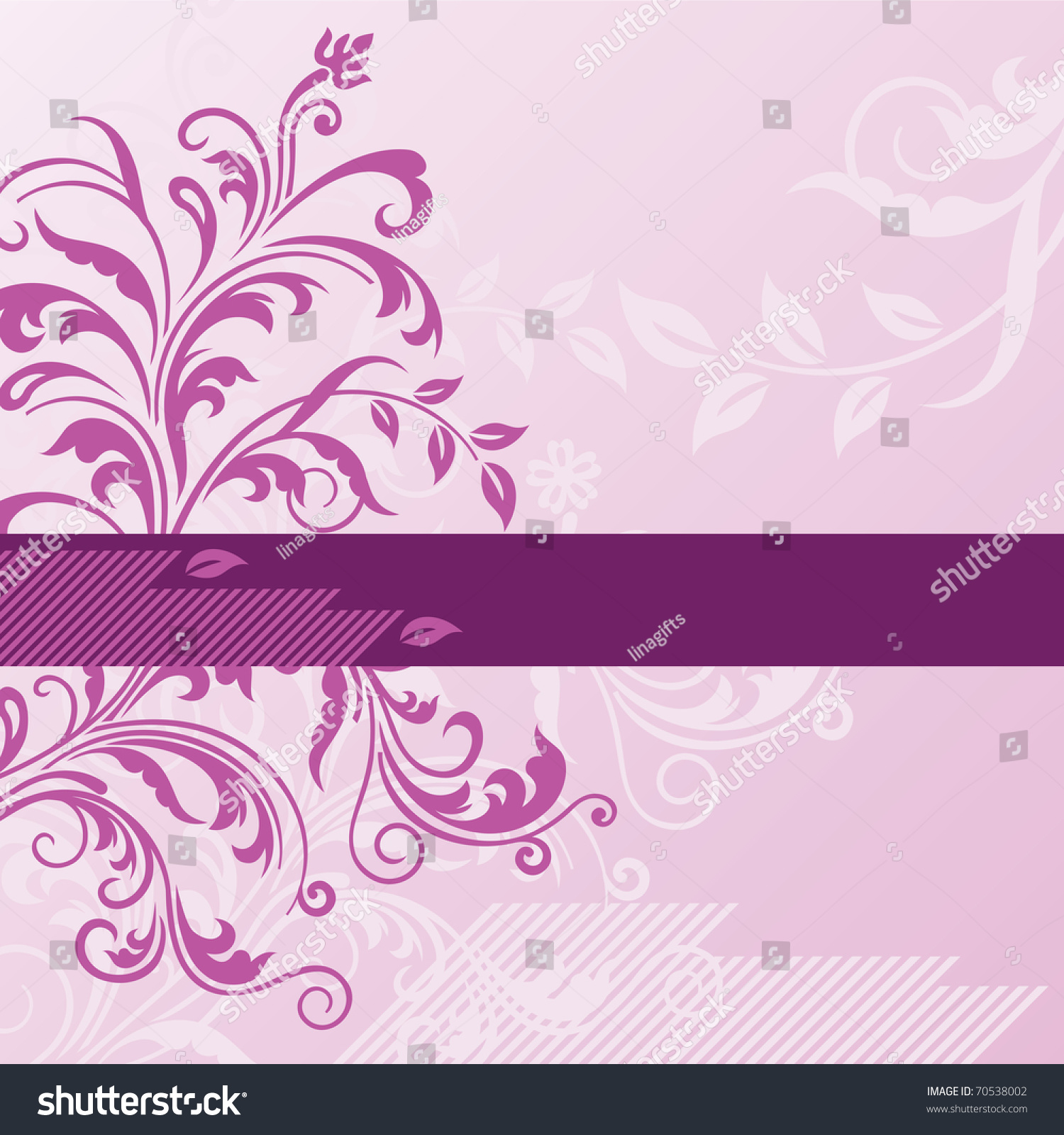 Pink Floral Background Banner Stock Vector Royalty Free 70538002