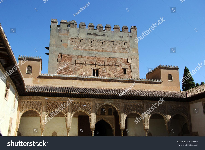 moorish architecture alhambra spain stock photo safe to use