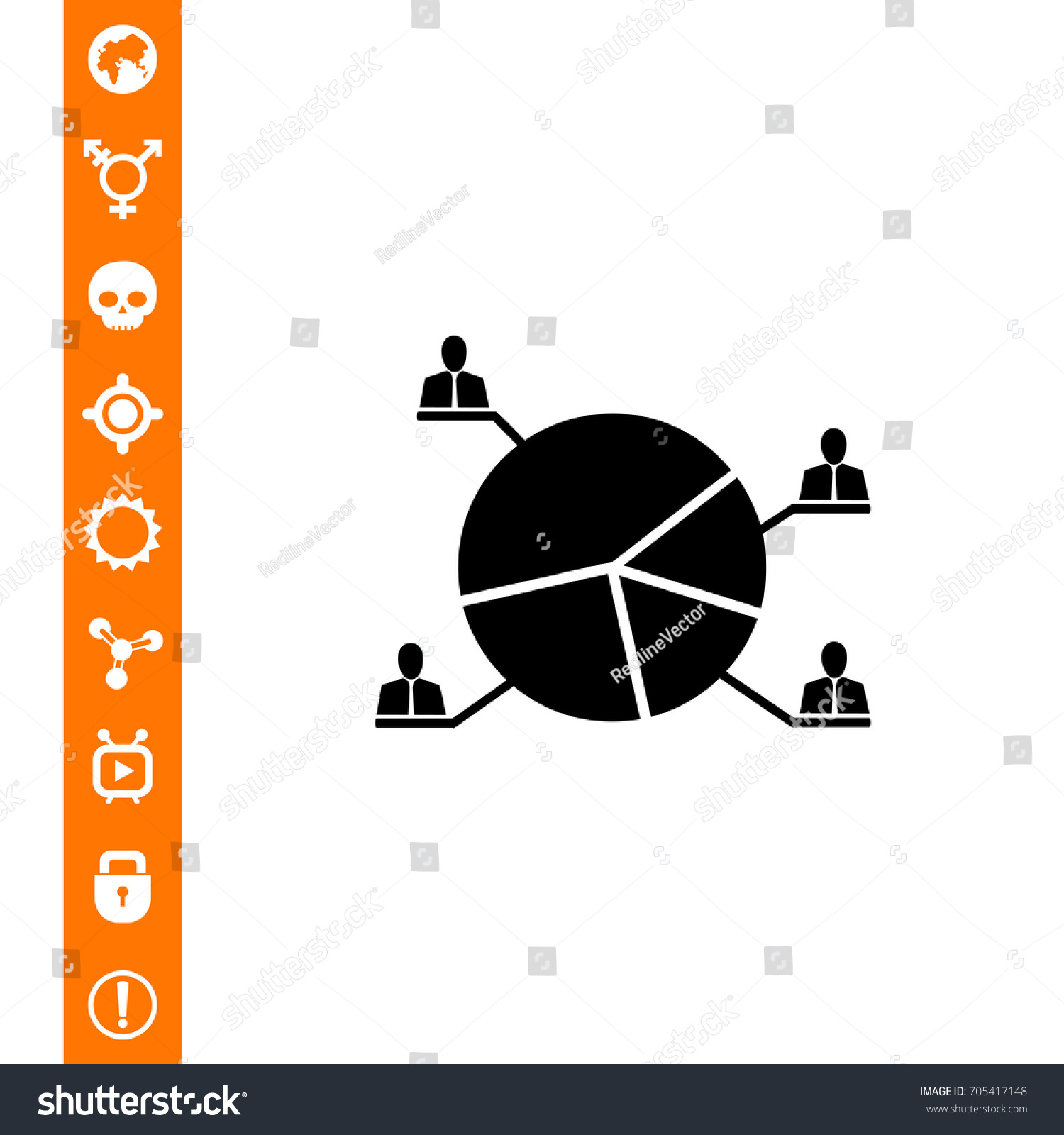 Election apple pie chart icon stock vector 705417148 shutterstock election apple pie chart icon nvjuhfo Images