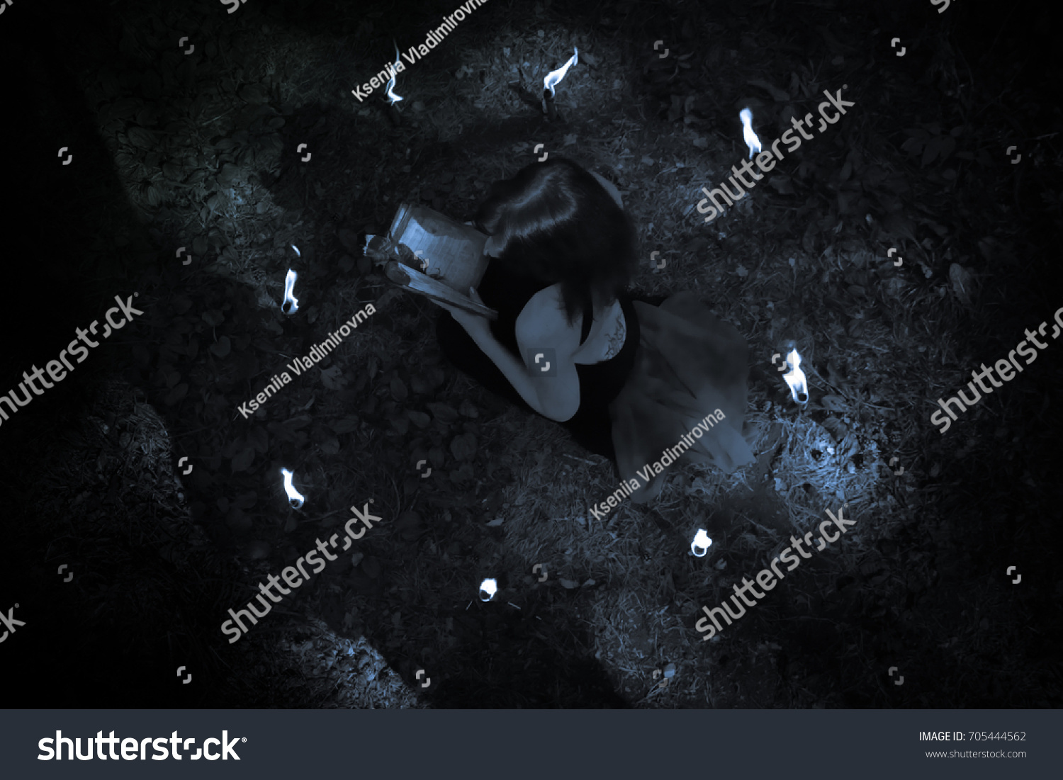 concept halloween witch black among forest stock photo edit now