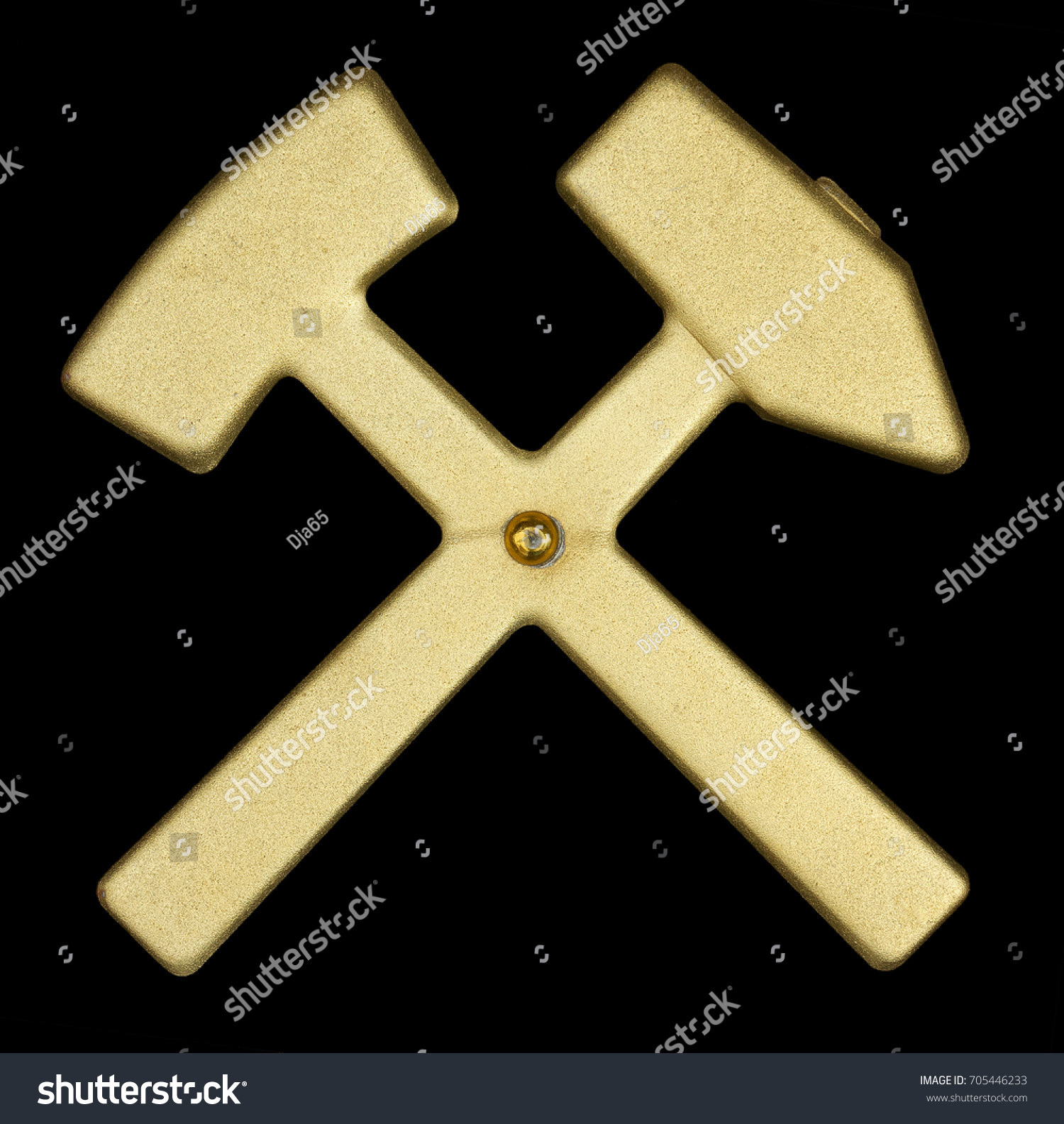 Symbol Two Crossed Hammers Stock Photo Edit Now 705446233