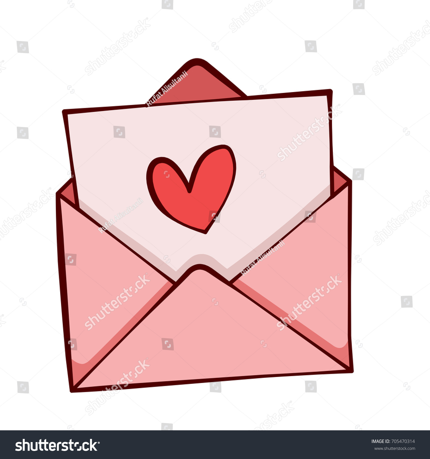 Envelope with heart