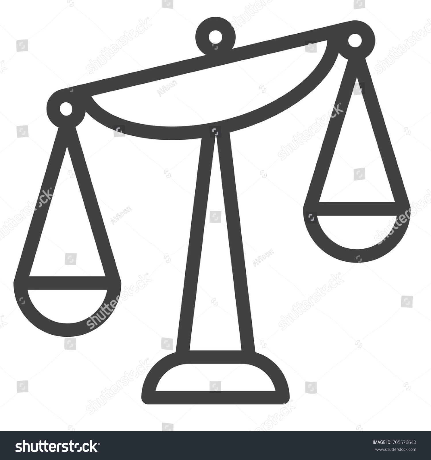 Balance scale line icon outline vector stock vector 705576640 balance scale line icon outline vector sign linear style pictogram isolated on white biocorpaavc Images