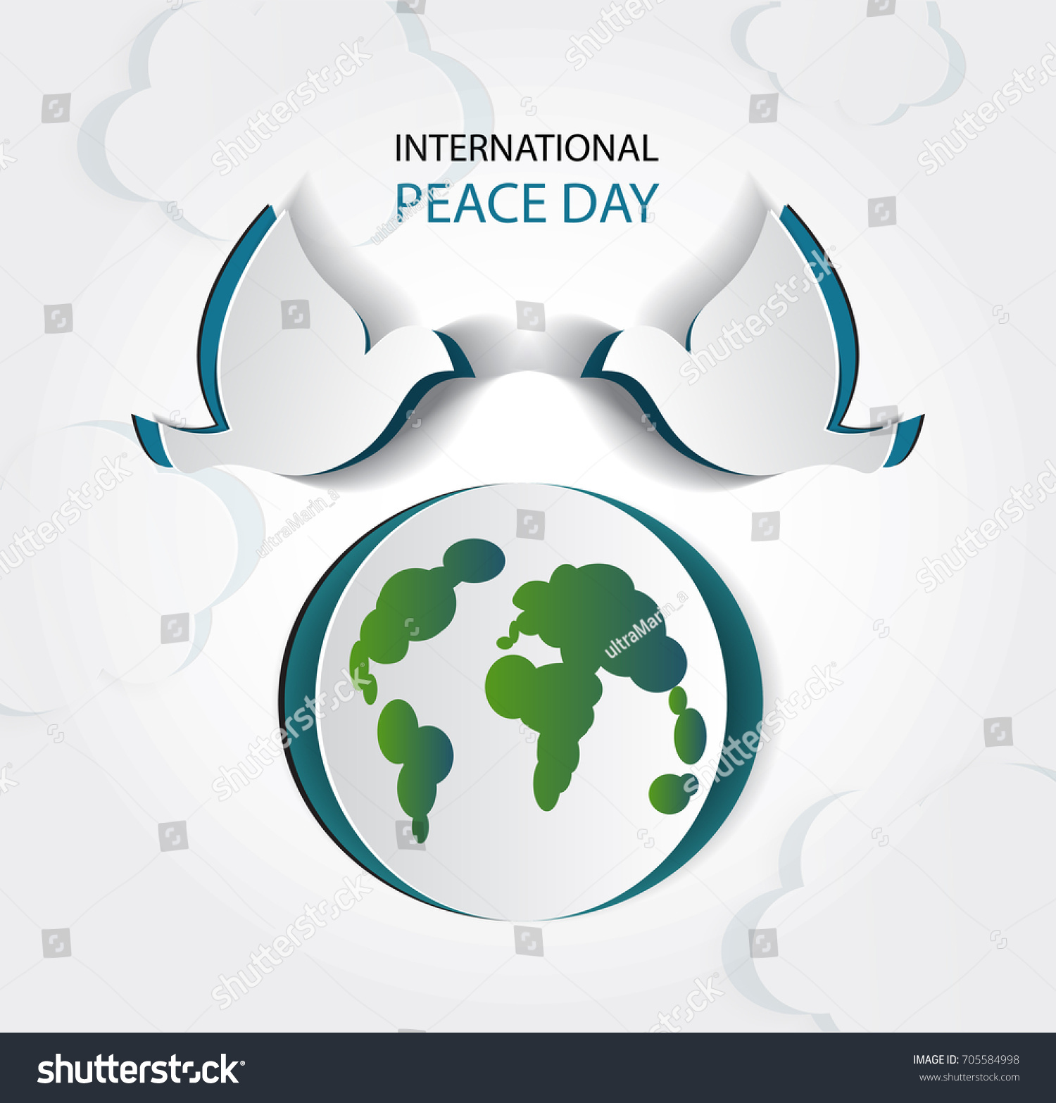 International day peace vector illustration white stock vector international day of peace vector illustration of white paper cutout dove realistic notch biocorpaavc Image collections