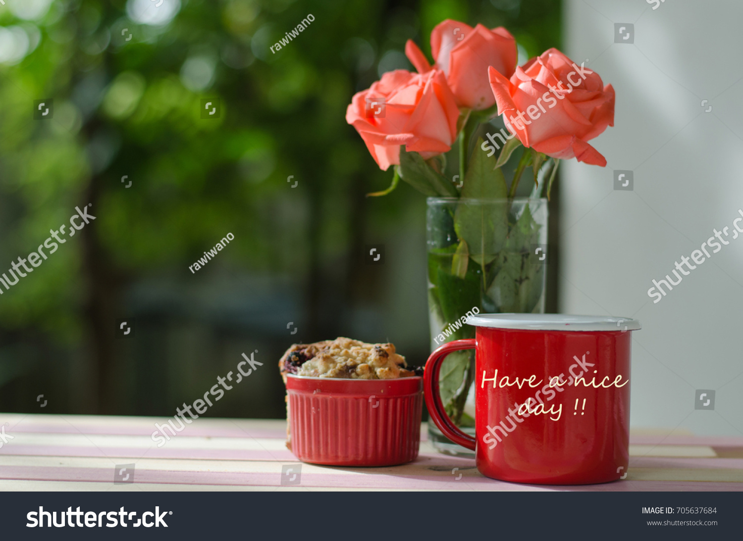 Good Morning Coffee Concept Red Hot Stock Photo Edit Now 705637684