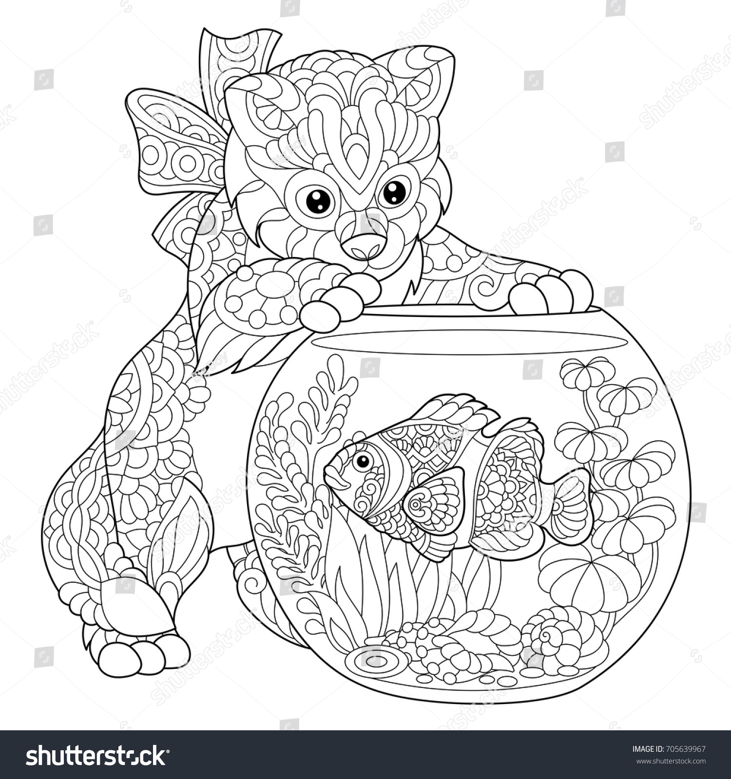 aquarium coloring page cool coloring book page kids outline