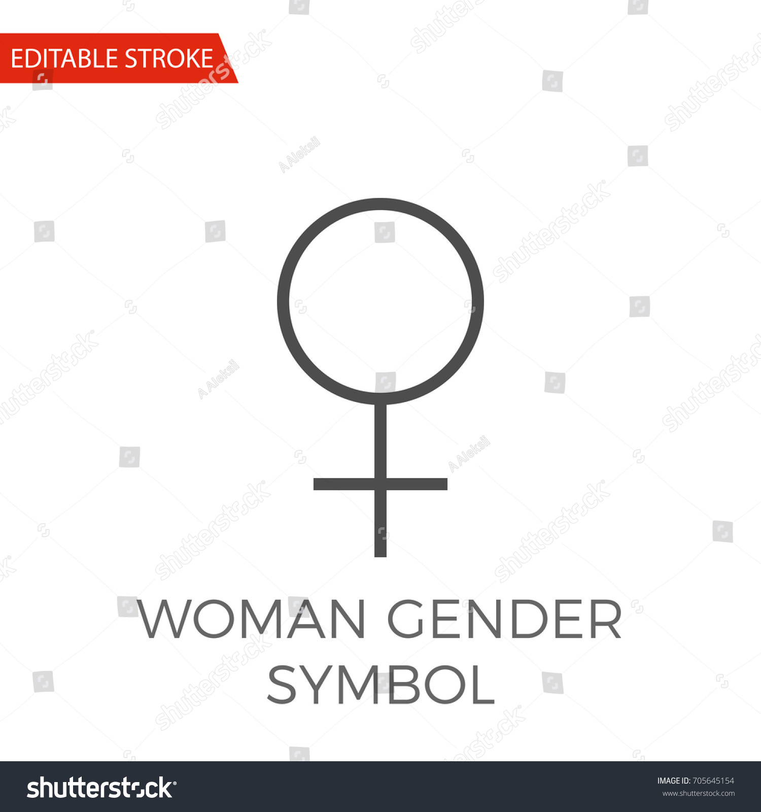 Woman gender symbol thin line vector stock vector 705645154 woman gender symbol thin line vector icon flat icon isolated on the white background buycottarizona Choice Image