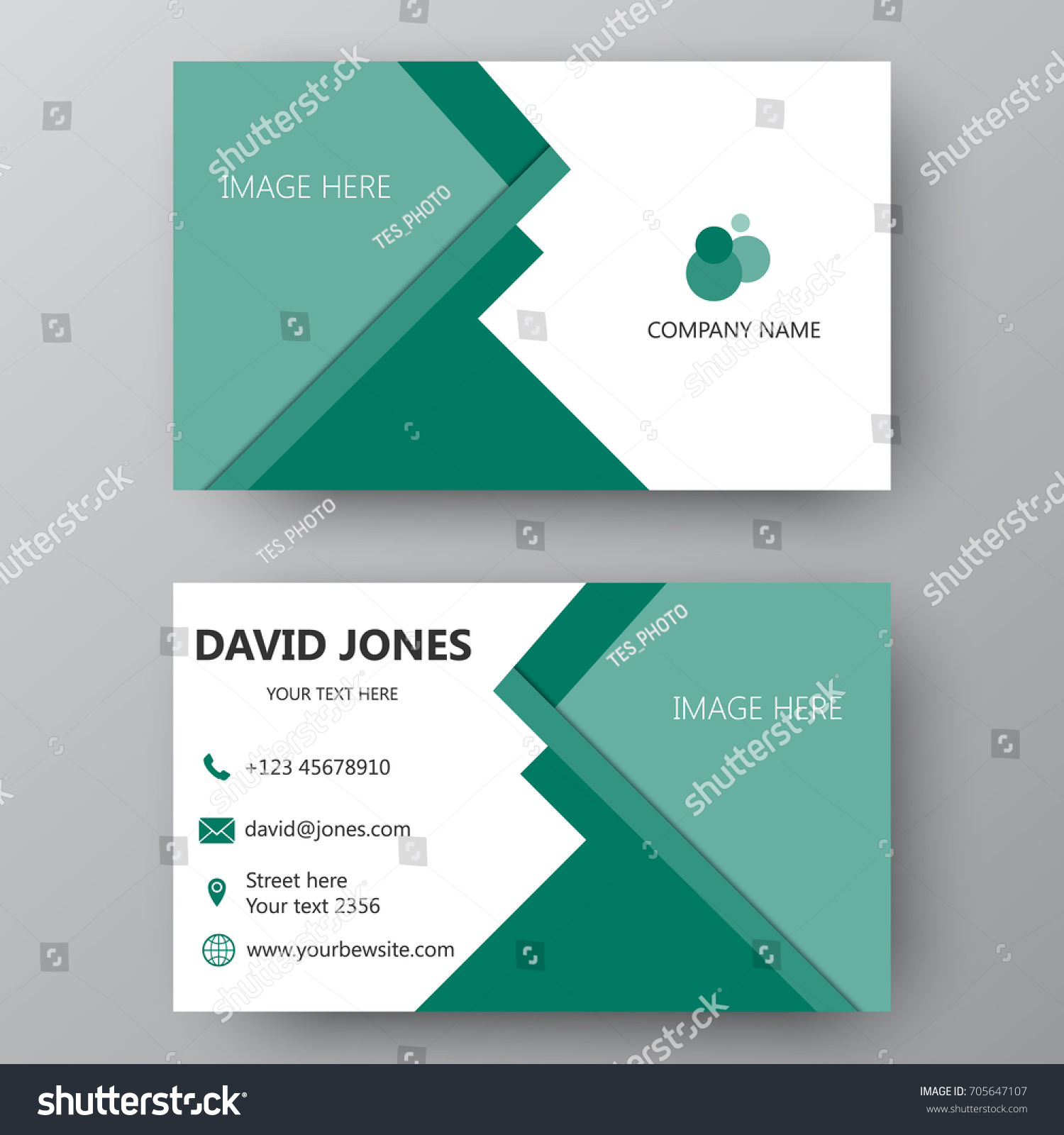 Vector Business Card Template Visiting Card Stock Vector HD (Royalty ...