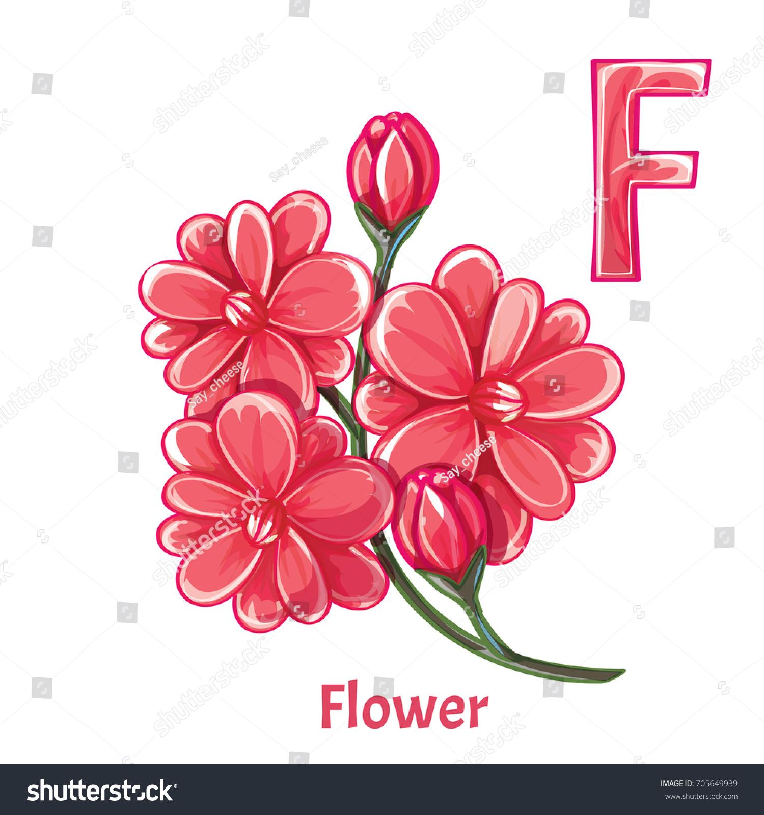 Vector Alphabet Letter F Flower Stock Vector (Royalty Free ...