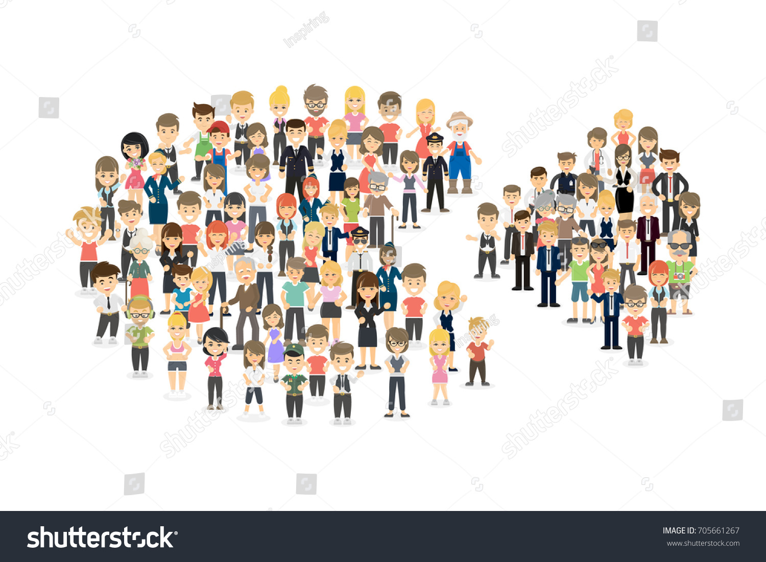 Pie chart people on white background stock illustration 705661267 pie chart with people on white background concept of demographic nvjuhfo Gallery