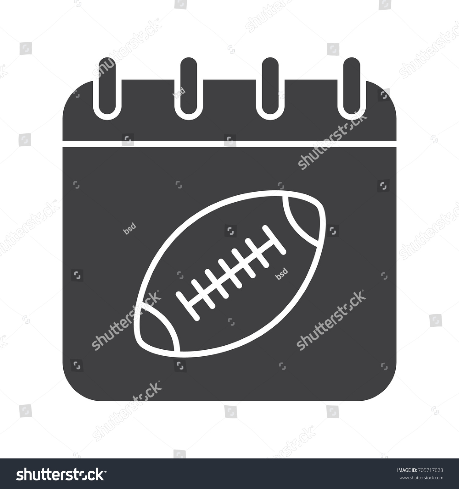 Super bowl date glyph icon silhouette stock illustration 705717028 super bowl date glyph icon silhouette symbol calendar page with american football ball biocorpaavc