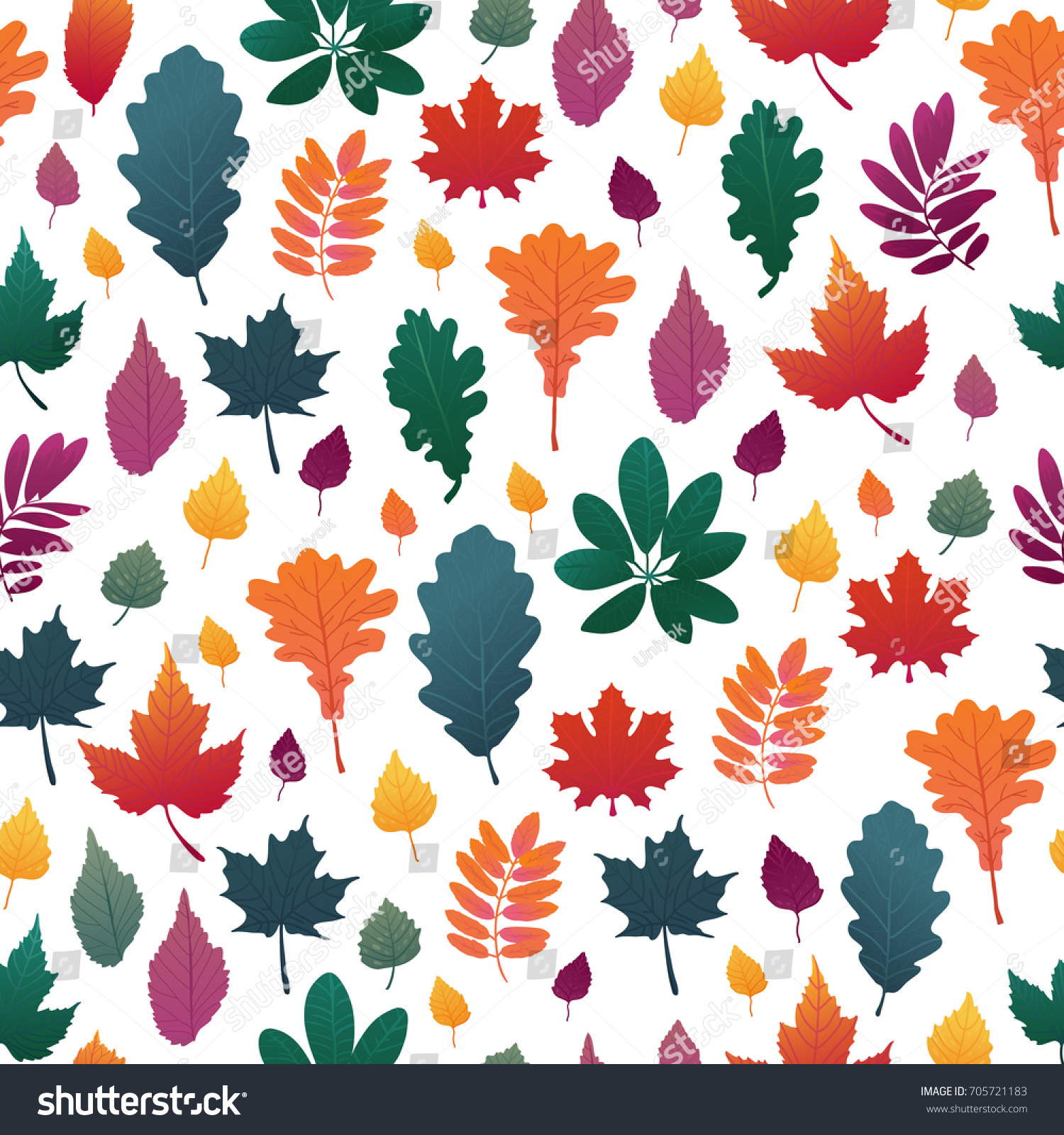 - Seamless Background Autumn Leaf Pattern Fall Stock Vector (Royalty