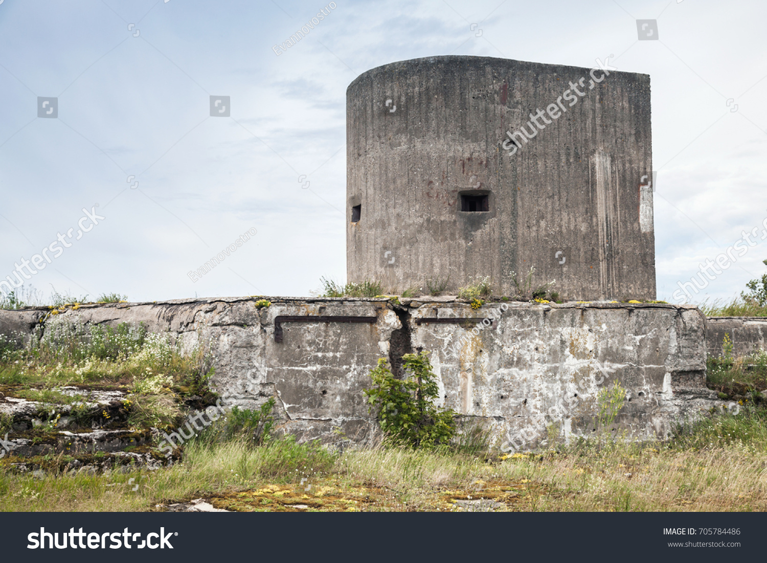 Old Concrete Bunker Tower Wwii Period Stock Photo (Edit Now