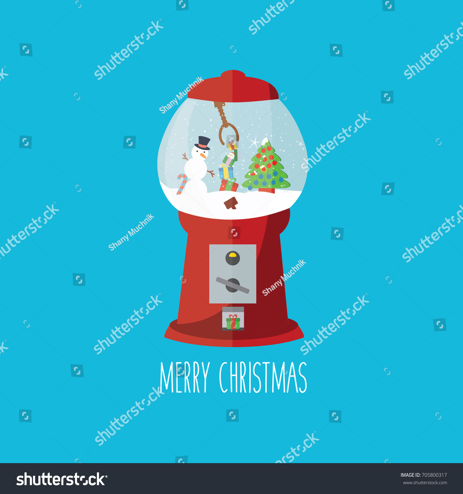 Christmas Card Print Cartoon Concept Creative Stock Vector Royalty