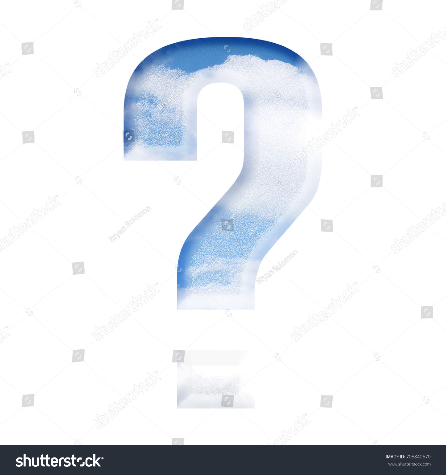 Blue sky style question mark sign stock illustration 705840670 blue sky style question mark sign symbol in a 3d illustration with a perfect summer day biocorpaavc