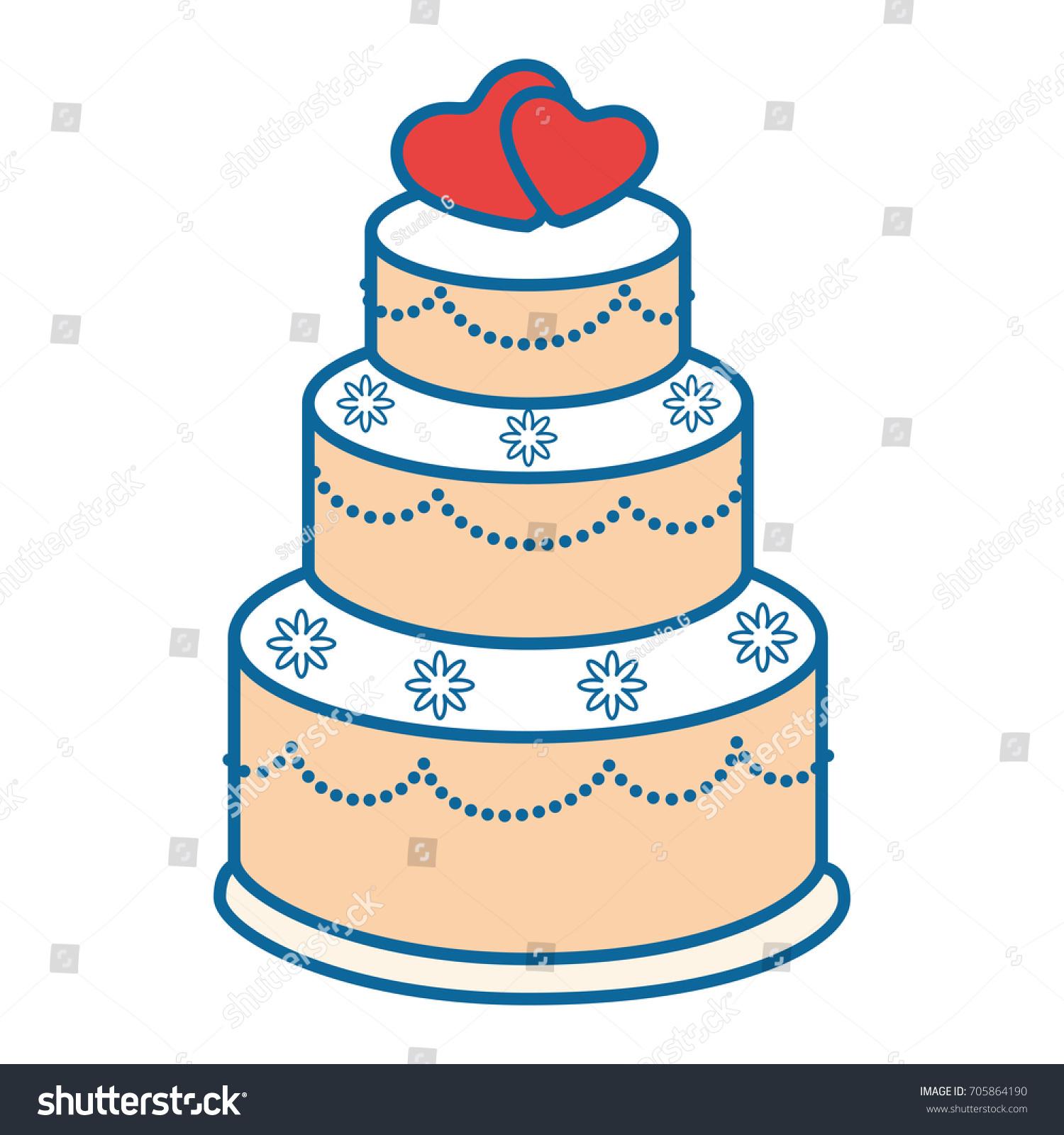 Wedding Cake Icon Stock Vector 705864190 - Shutterstock