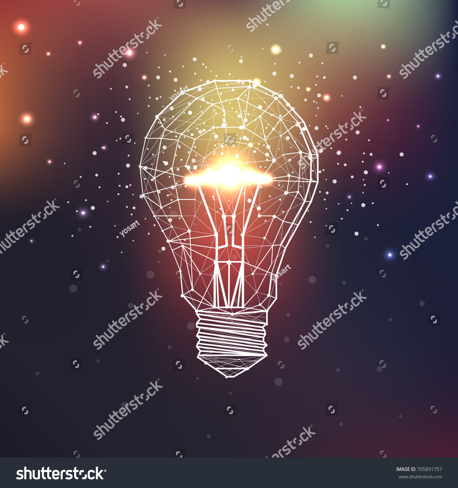 Low Poly Geometric Triangular Wire Graphic Stock Vector 705891757 ...