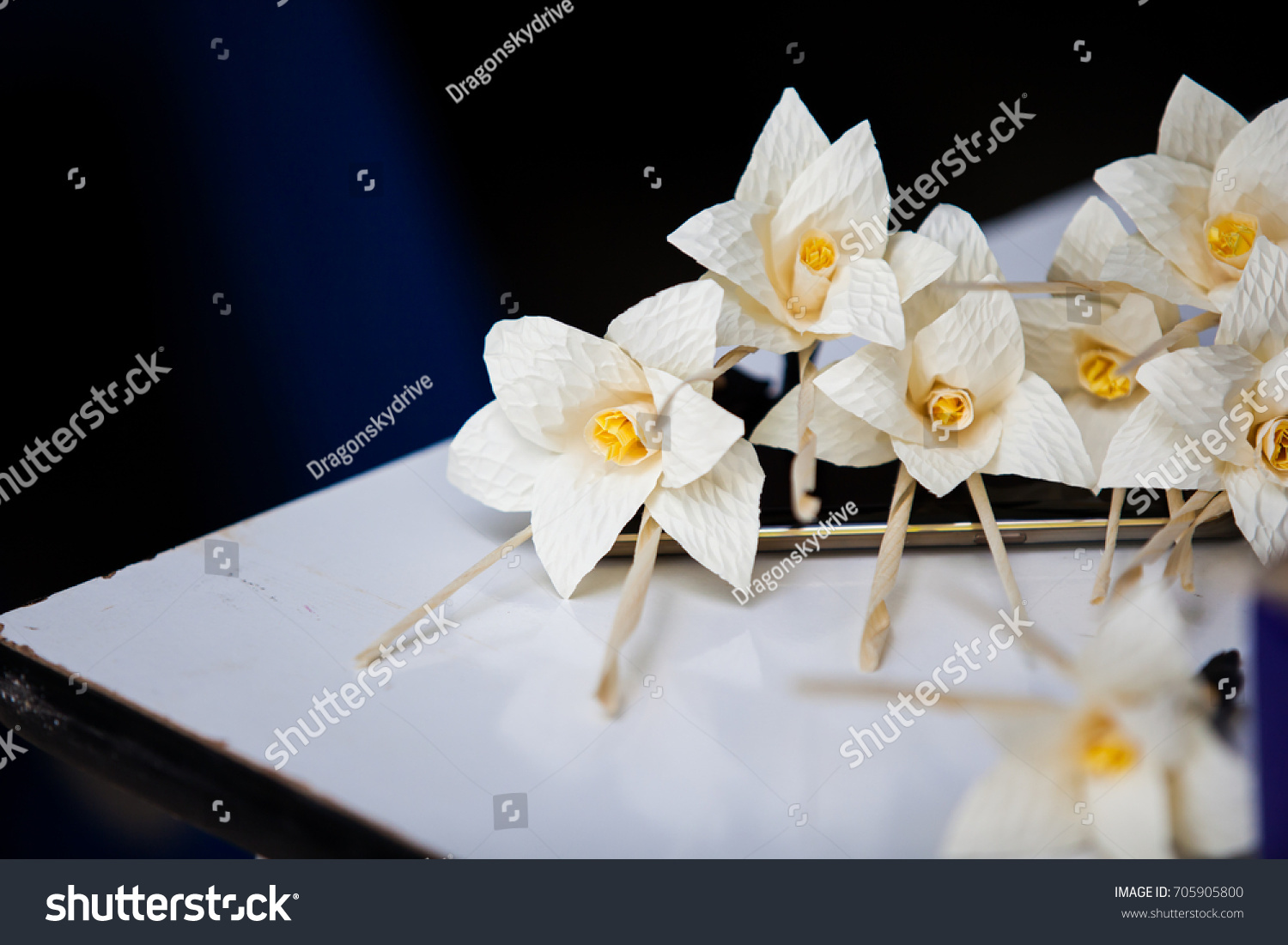 Thai funeral flower artificial flower used stock photo edit now thai funeral flower artificial flower used for cremation paper flower for use in izmirmasajfo