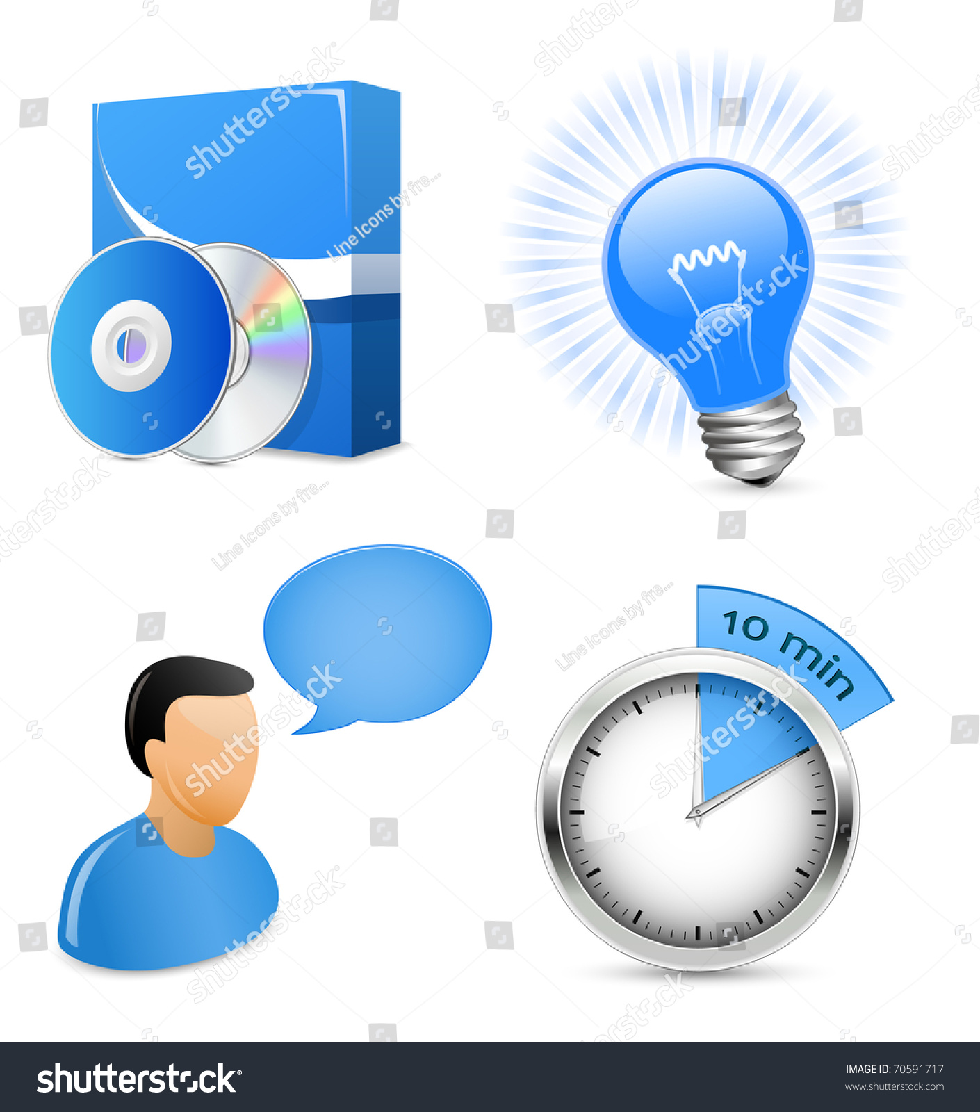 Vector icons for software development company or it Vector image software