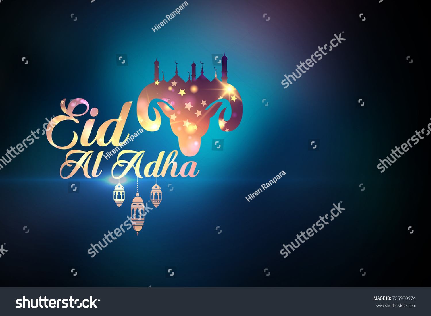Eid Al Adha Greetings Stock Illustration 705980974 Shutterstock