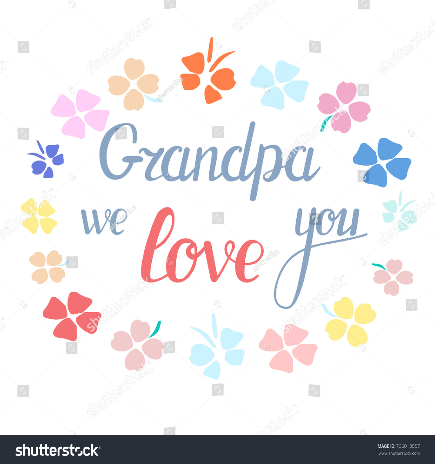 Vector illustration national grandparents day warm stock vector vector illustration of national grandparents day warm word for grandfather grandpa we love you kristyandbryce Choice Image