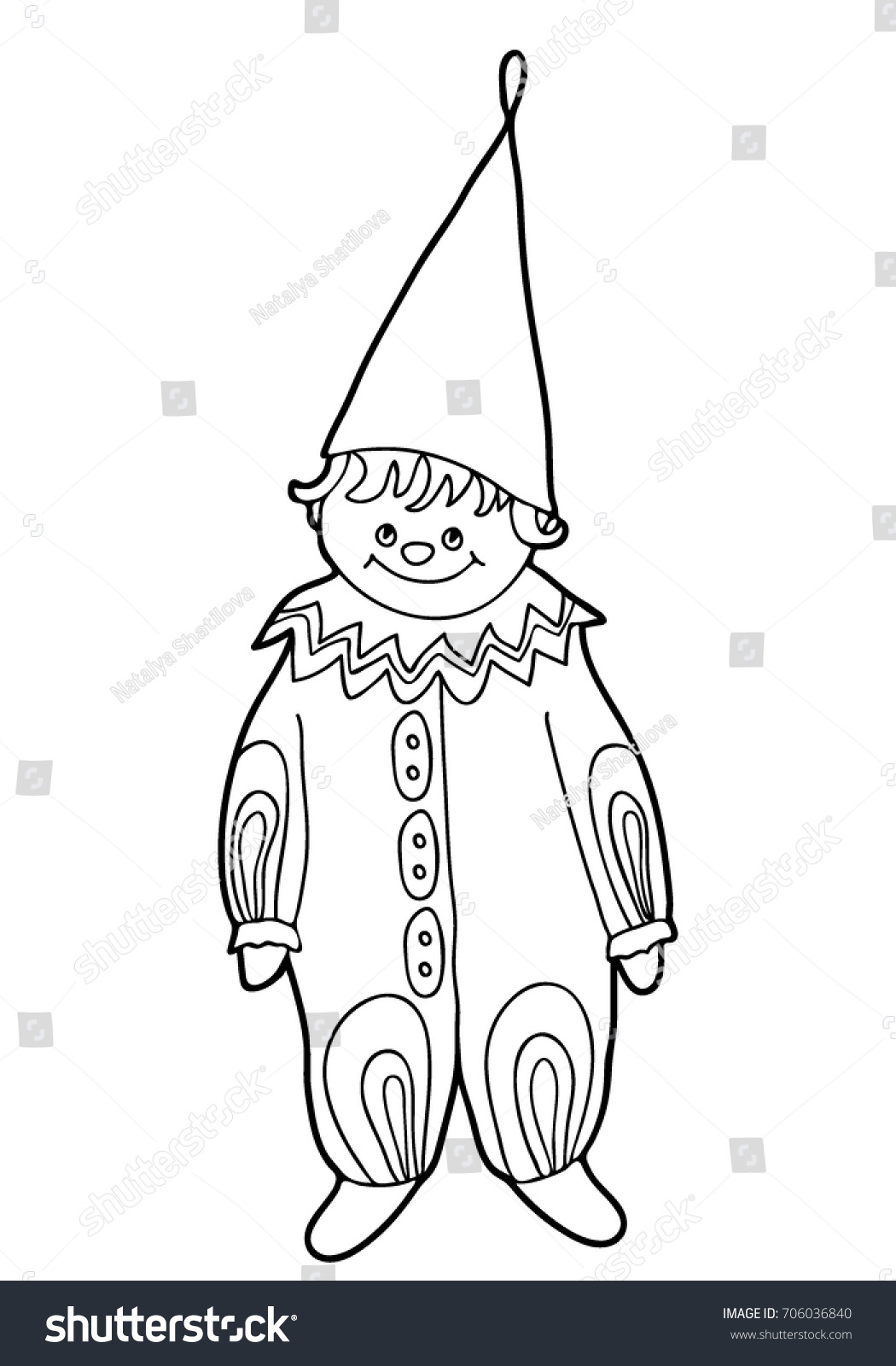 Coloring Children Cheerful Parsley Christmas Tree Stock Vector ...