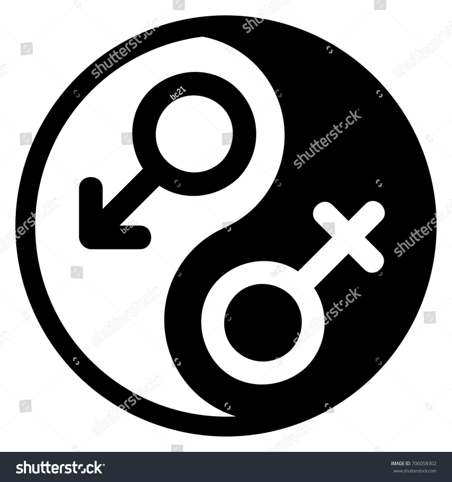 Black white yin yang logo gender stock vector 706058302 shutterstock black and white yin yang logo gender signs male female biocorpaavc