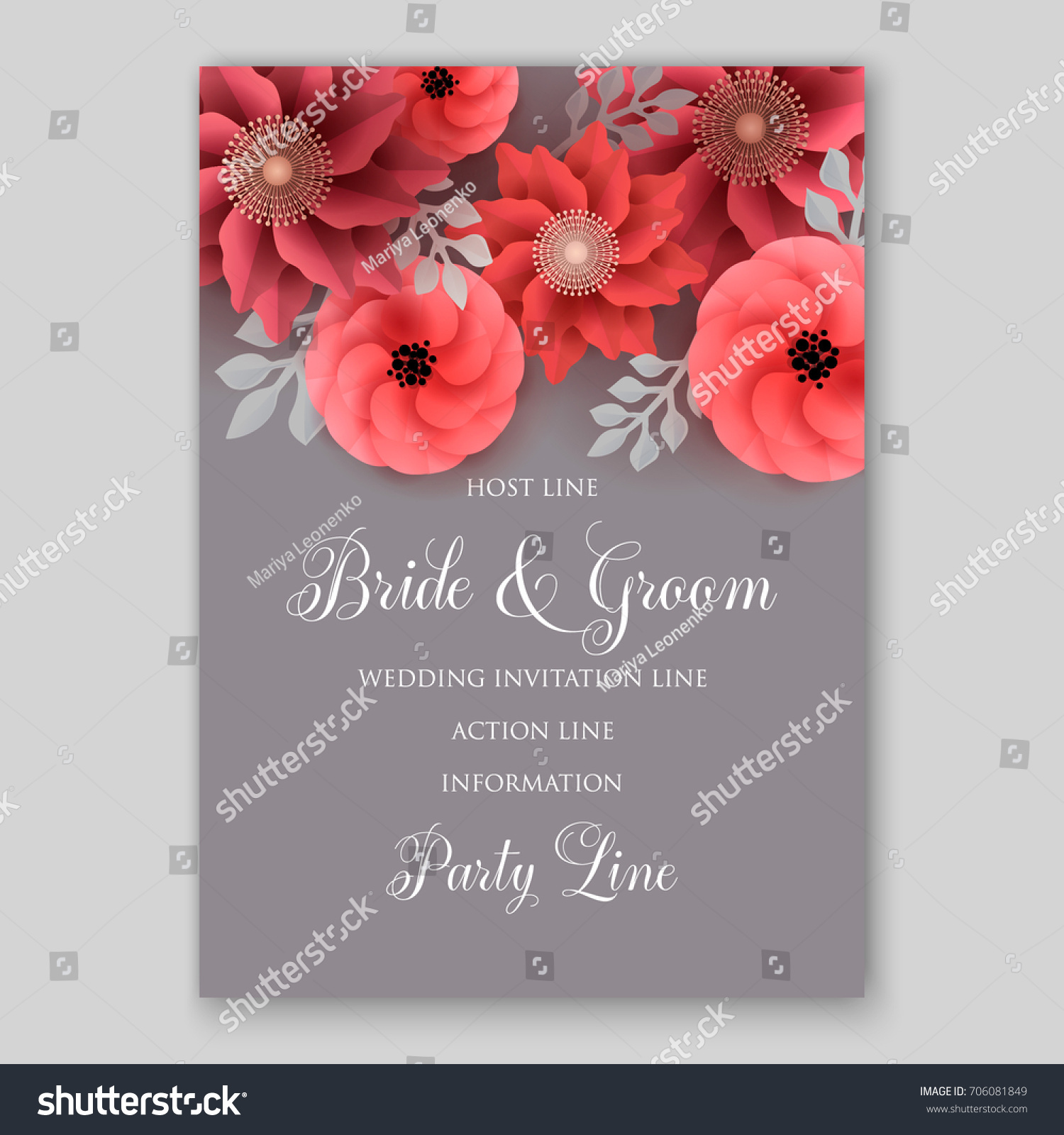 Vector big paper flower origami rose stock vector royalty free vector big paper flower origami rose anemone peony wedding invitation floral card template izmirmasajfo