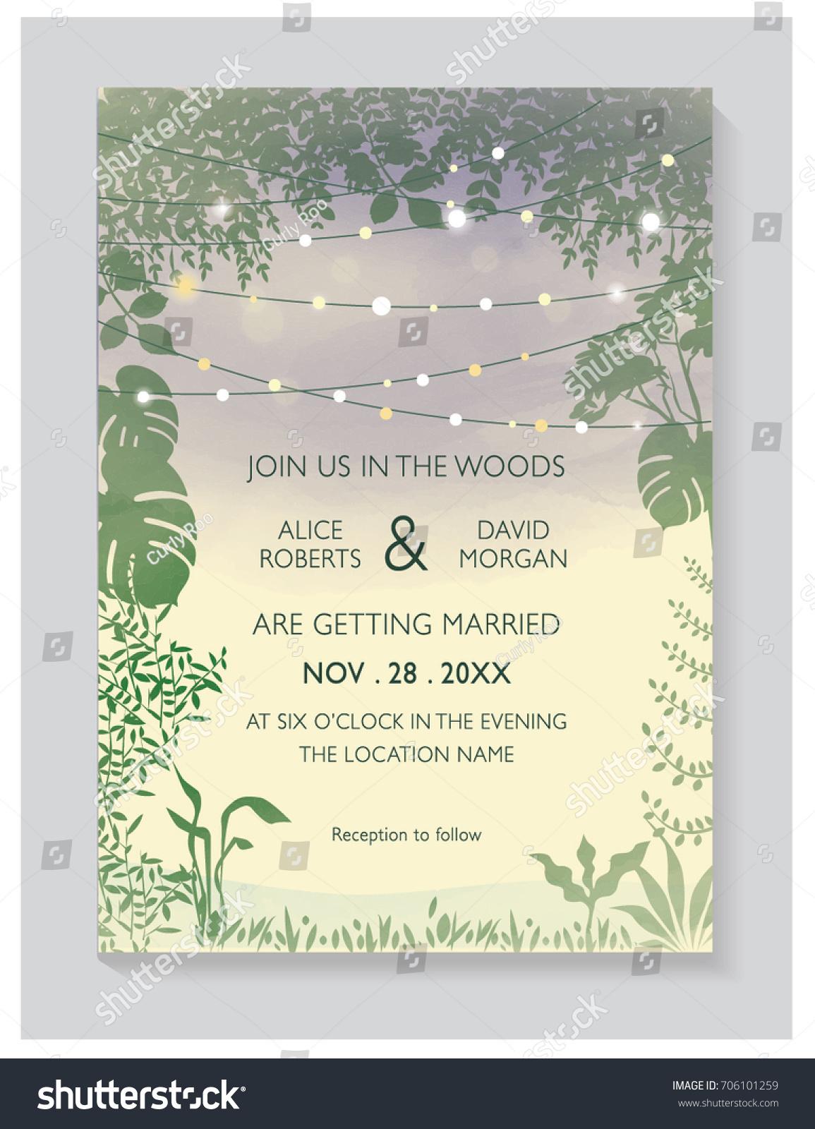 WEDDING INVITATION CARD Wedding Woods Concept Stock Photo (Photo ...