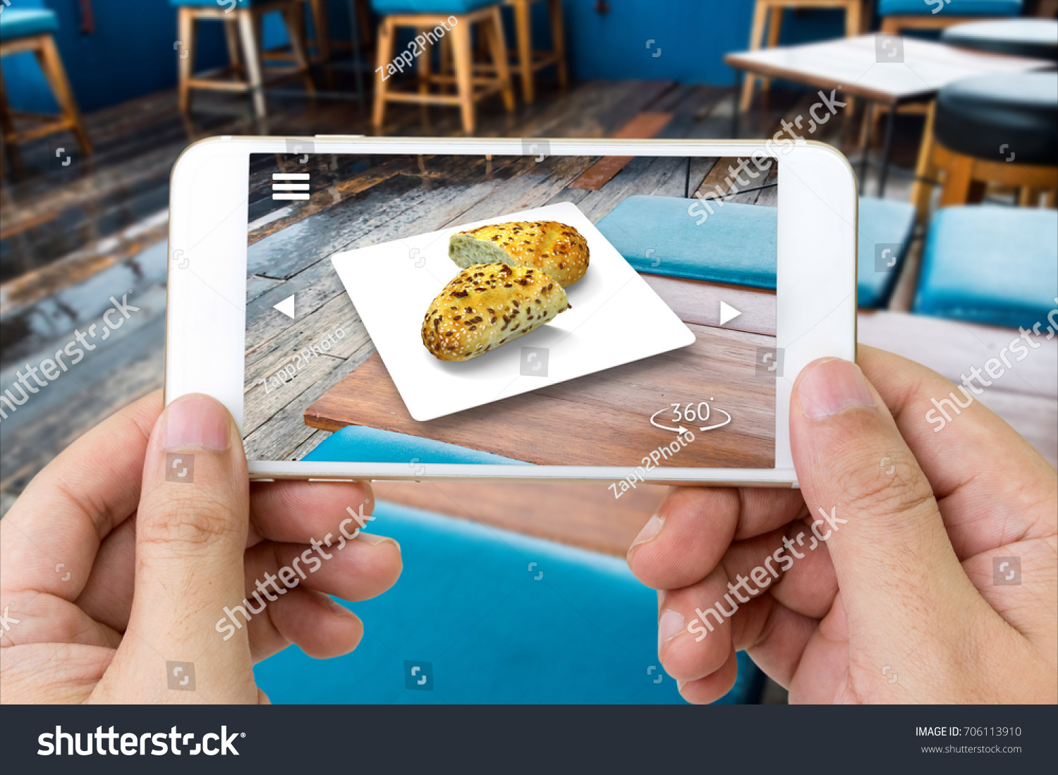 Augmented Reality Marketing Technology Concept Customer Stock Photo ...