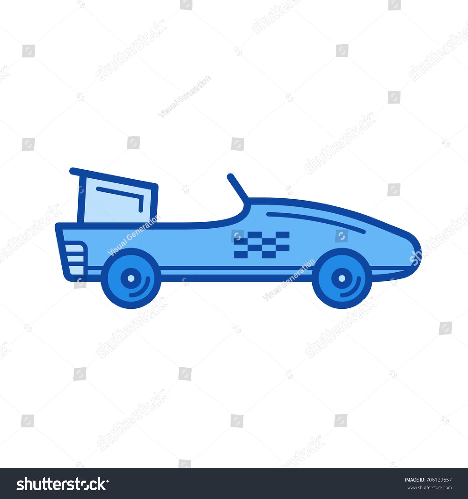 Formula One Car Vector Line Icon Stock Vector (Royalty Free