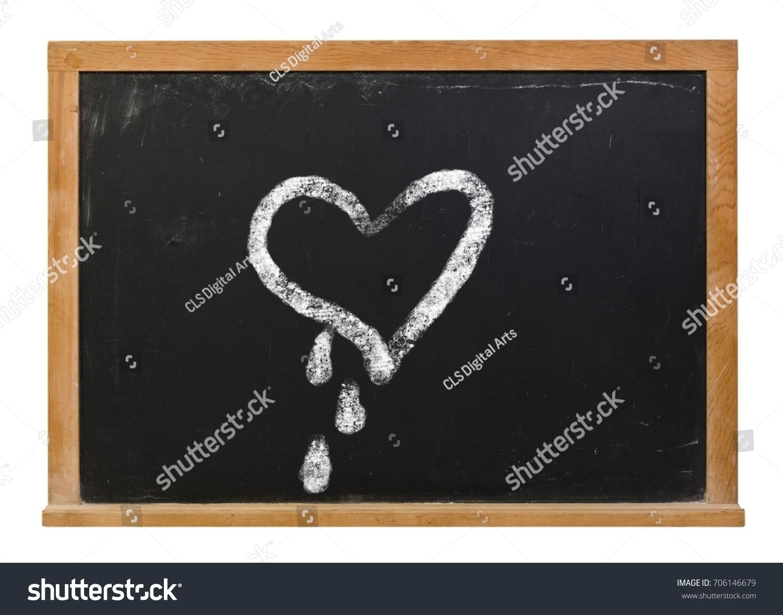 Bleeding heart drawn white chalk on stock photo 706146679 bleeding heart drawn in white chalk on a black chalkboard isolated on white buycottarizona