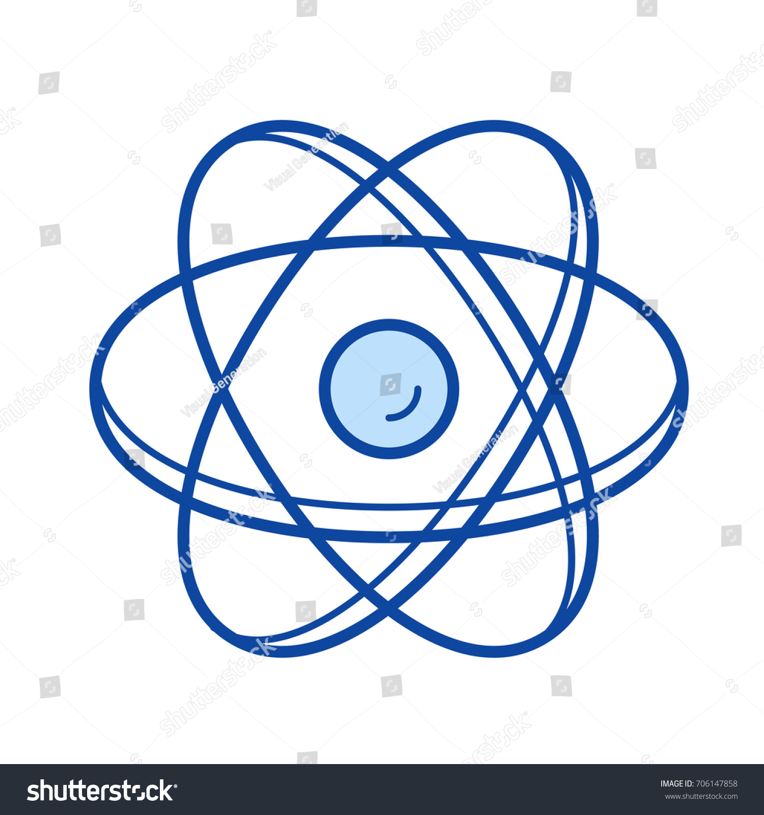 Atom structure vector line icon isolated stock vector 706147858 atom structure vector line icon isolated stock vector 706147858 shutterstock ccuart Gallery