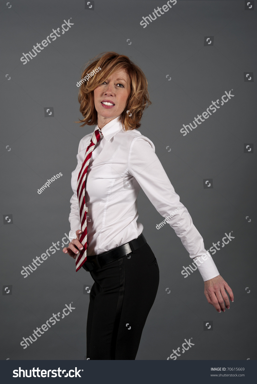 Woman Wearing Necktie | www.topsimages.com