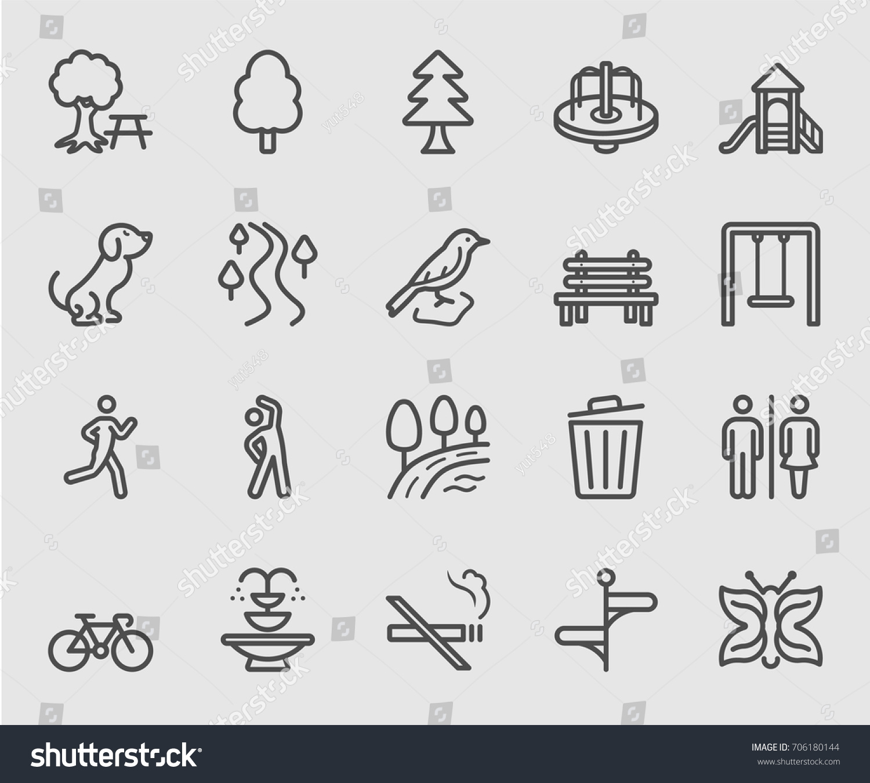 Park outdoor line icon #706180144
