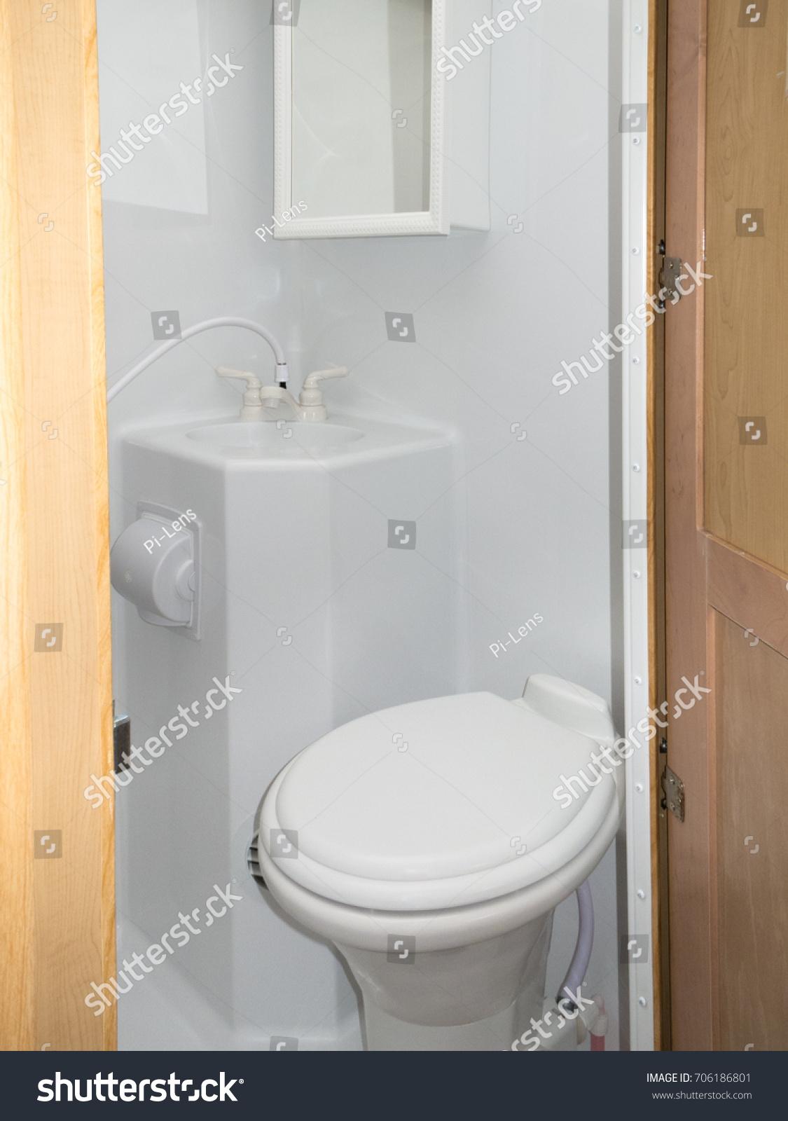 Interior Toilet Sink Shower Cabinet Wet Stock Photo 706186801 ...