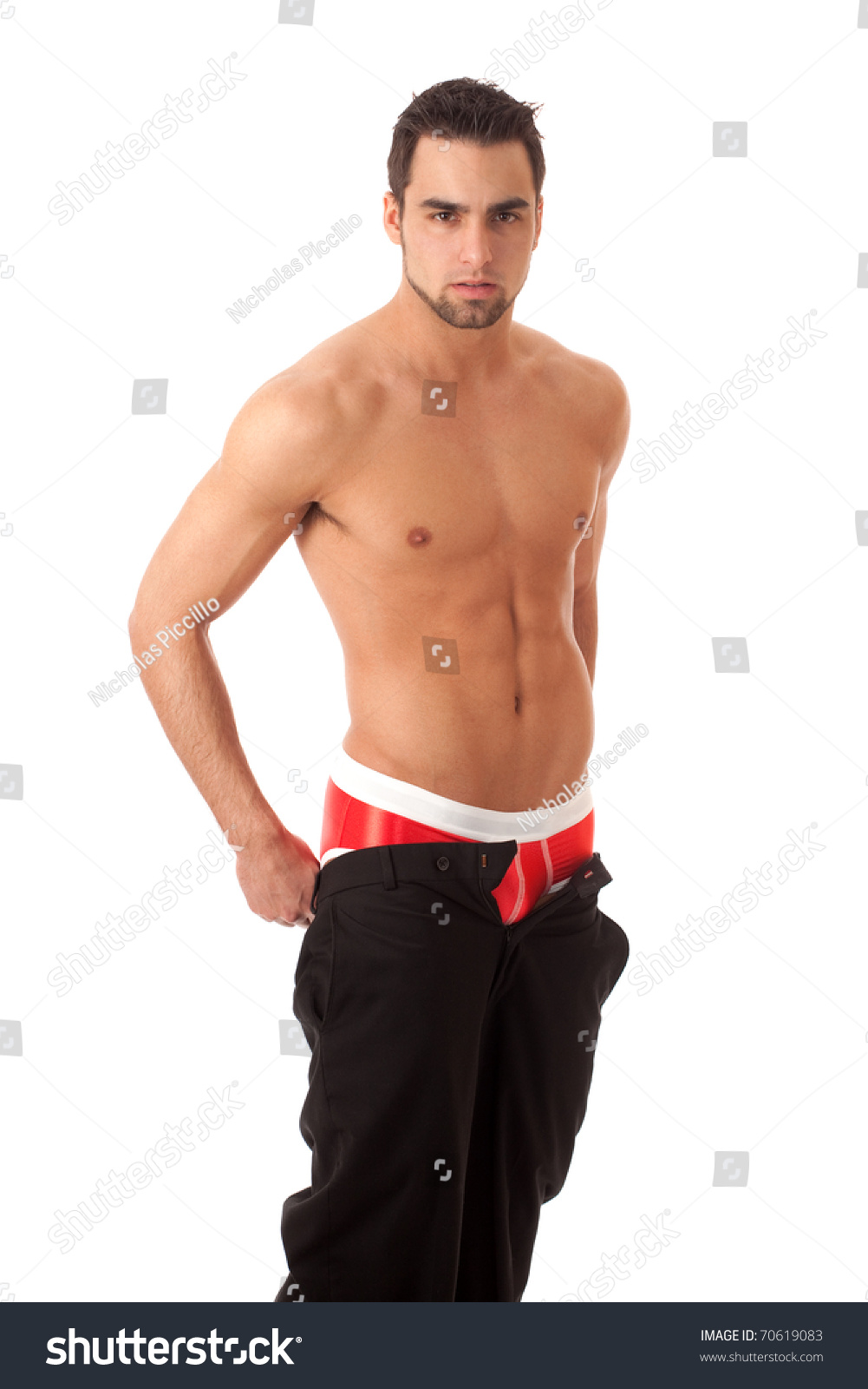 unzipped pants stock photo 70619083