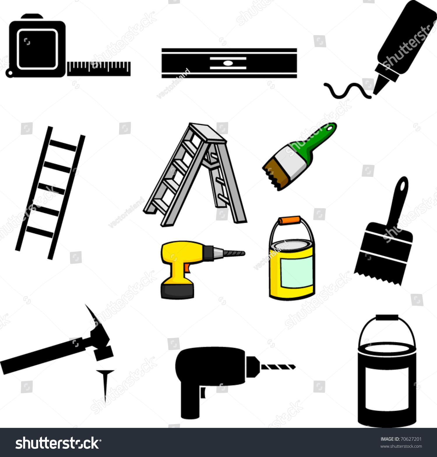 Home Improvement Illustrations And Symbols Set - 70627201 ...