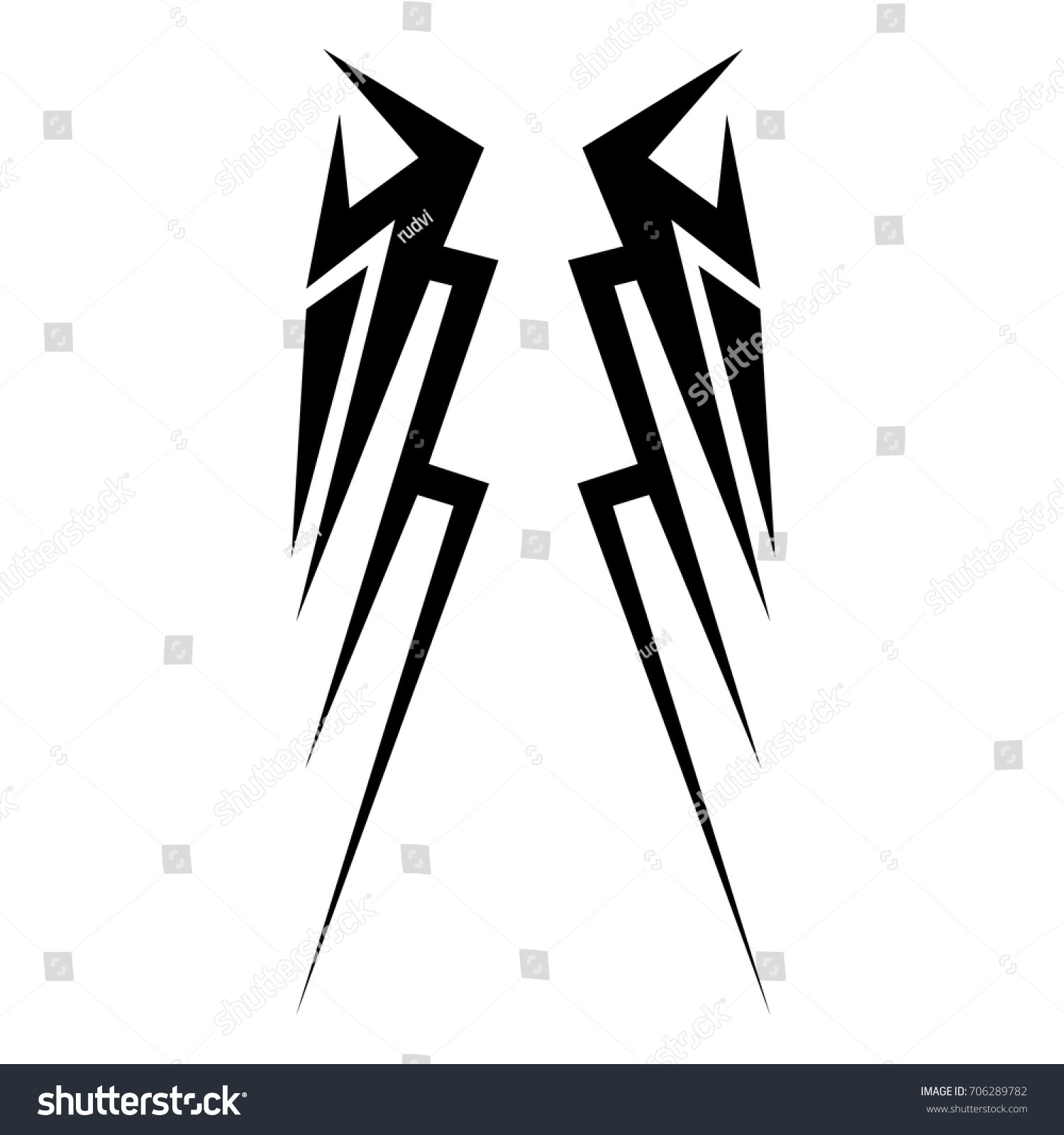 Tattoo Tribal Vector Design Simple Logo Stock-Vektorgrafik 706289782 ...