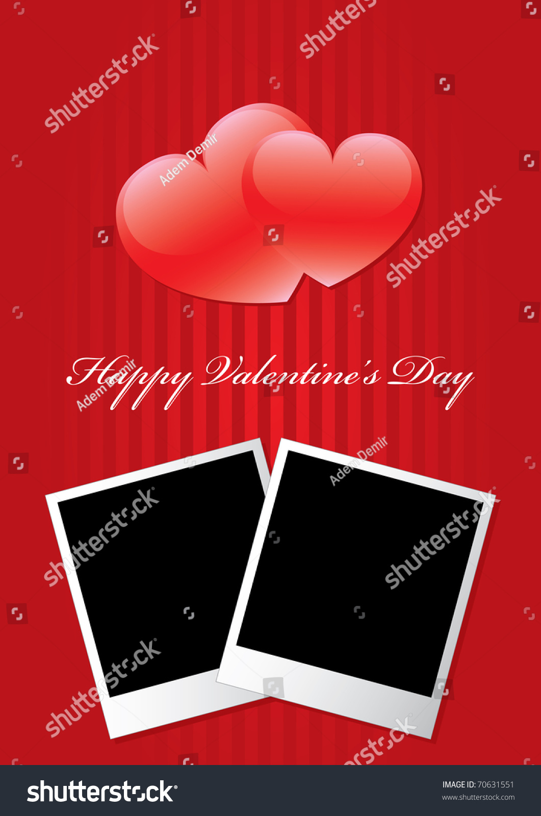 Happy Valentines Day Vertical Background Two Stock Vector Royalty
