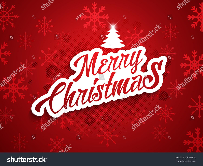 Nice Beautiful Abstract Merry Christmas Nice Stock Vector (Royalty ...