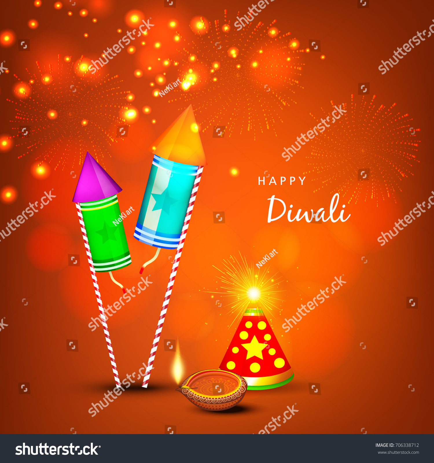 Creative Greeting Card Design Happy Deepavali Stock Vector Royalty