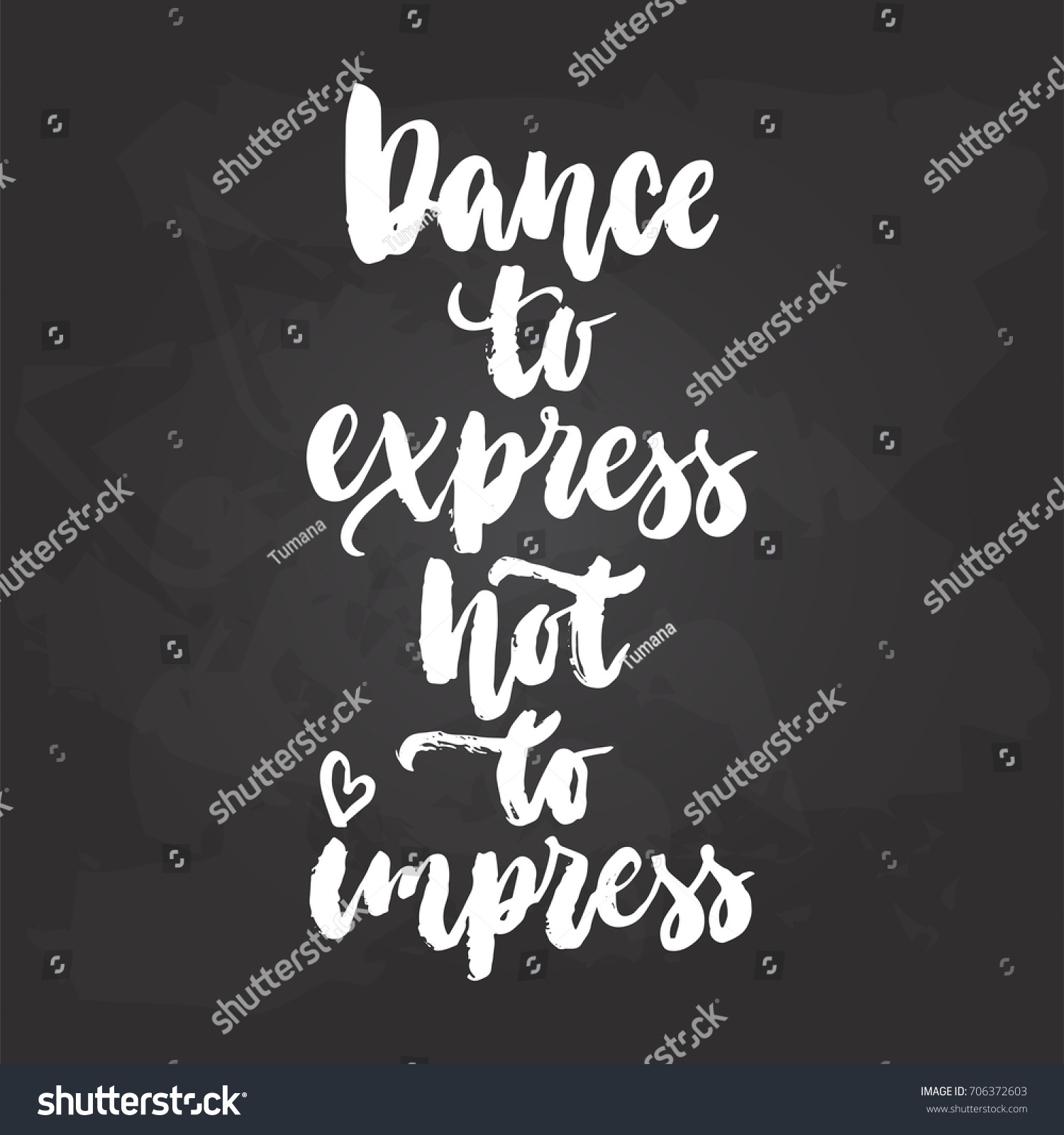 Quote Express   Dance Express Not Impress Lettering Dancing Stock Vector Royalty