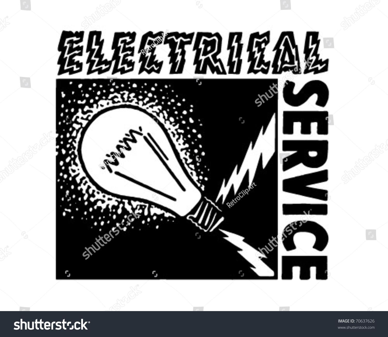 Electrical Service Retro Ad Art Banner Stock Vector 70637626