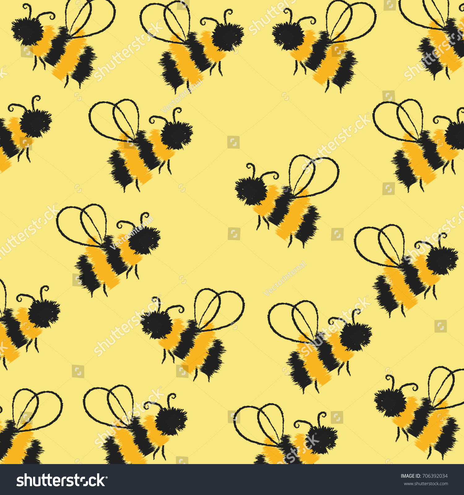 Autumn Vintage Pattern Bees Textiletextureprintsfabric Wallpaper