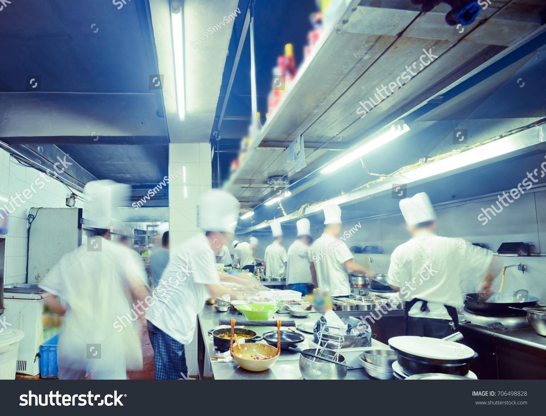 Motion Chefs Restaurant Kitchen Stock Photo (Royalty Free) 706498828 ...
