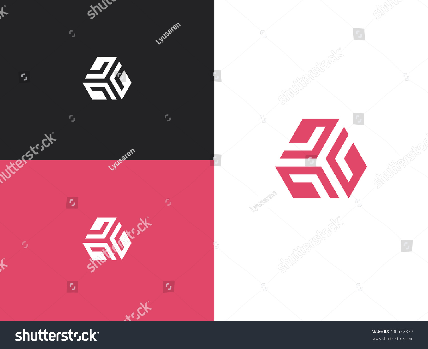 Vector Pink Letter G Diamond Company Stock Vector (Royalty Free ...